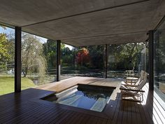 The Cool Hunter - Wirra Willa - Somersby, Australia inbuilt deck spa with surrounds- I love this!
