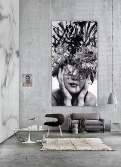 Images are a very hot topic in up to date home decor . preferably giant enlargements that covers half the block - that would be visible from space satellites if we had larger windows.(WABI SABI Scandinavia - Design, Art and DIY.: Clever idea or rip-off? Scandinavia Design, Wall Art Designs, Design Art, Design Ideas, Home And Deco, Konmari, Modern Wall Art, Big Wall Art, Contemporary Artwork