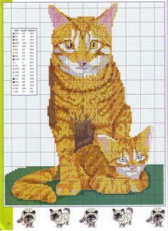 patrones punto de cruz solo felinos (pág. 14)   Aprender manualidades es facilisimo.com
