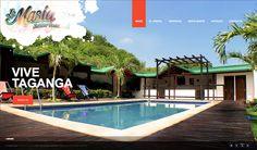 Sitio web para hostal en Taganga - LA MASIA - Año ©2011