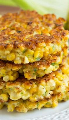 Summer's nothing without some corn. Here, 12 delicious corn recipes from soup to salad — plus healthier takes on corn bread, corn fritters and more. Corn Recipes, Side Dish Recipes, Veggie Recipes, Vegetarian Recipes, Cooking Recipes, Healthy Recipes, Corn Fritter Recipes, Recipies, Vegan Grill Recipes