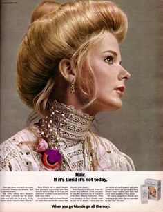 Types Of Blondes, Famous Blondes, 1970s Hairstyles, Vintage Hairstyles, Edwardian Hairstyles, Vintage Makeup, Vintage Beauty, Vintage Ads, Retro Ads