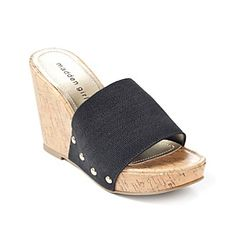 "Madden Girl ""Nickolet"" Slip-on Wedge Sandals"