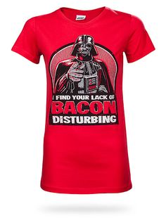 #geek - #gadgets Darth Vader Lack Of Bacon Babydoll :: ThinkGeek - @ www.AmericasMall.com/thinkgeek-gadgets