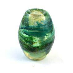Sea Charm Large Hole Handmade Glass Lampwork Bead by GlassyFields on Etsy
