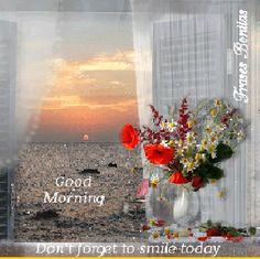 Frases Bonitas Para Todo Momento. : Good Morning. Don't forget to smile today.