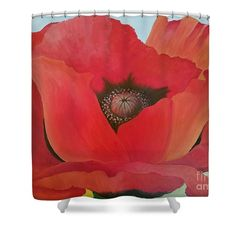 """After Georgia Shower Curtain by Susan Williams.  This shower curtain is made from 100% polyester fabric and includes 12 holes at the top of the curtain for simple hanging.  The total dimensions of the shower curtain are 71"""" wide x 74"""" tall."""