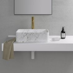 The Kudos is a breathtakingly beautiful Rectangular Marble Counter Top Basin. Handcrafted from real Carrara marble for a luxurious aesthetic. Freestanding Taps, Bathroom Basin, Bath Taps, Washroom, Bamboo Bathroom, Bathroom Mirrors, Master Bathroom, Stone Basin, Vanity Units