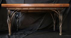 Hand forged coffee table by seth tyler