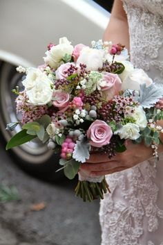 Flower Design Events: Autumnal Pinks for Victoria & Sam's Glorious Wedding Day at St Anne's Parish Church & The Grand Hotel