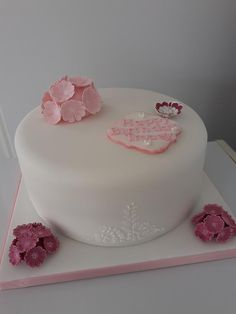 Sweet William Flowers, Pretty In Pink, Girl Birthday, Cake Decorating, Cakes, Desserts, Tailgate Desserts, Deserts, Cake Makers