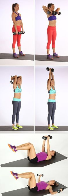 Best Dumbbell Exercises For Strong, Chiseled Arms Get Ripped Fast! Best Arm Exercises With WeightsGet Ripped Fast! Best Arm Exercises With Weights Fitness Workouts, Sport Fitness, Fitness Diet, Fitness Goals, At Home Workouts, Health Fitness, Workout Routines, Weight Workouts, Arm Workouts
