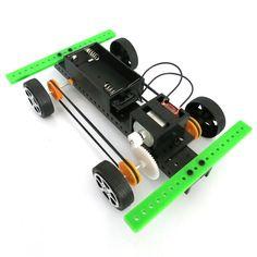 Electronics assembly training Toys 15x10cm Easily DIY Assembling Mini Battery Powered Car