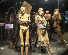 These are mummies, some still dressed in original death clothes at Museo de las Momias de Guanajauto- The Mummy Museum in Guanajuato Ancient Artifacts, Ancient Egypt, Mummy Museum, Mythological Monsters, Death Art, Post Mortem Photography, Comic Poster, Horror Posters, Archaeology