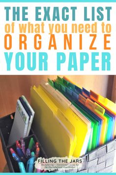 Paper Organizing Tools + Recommendations From stopping paper clutter at the front door to eventual long-term storage, these are the exact paper organizing tools you need for simple and tidy paperwork organization. School Paper Organization, Organizing Paperwork, Clutter Organization, Household Organization, Home Office Organization, Organizing Tools, Organizing Paper Clutter, Organization Ideas, Organize Receipts