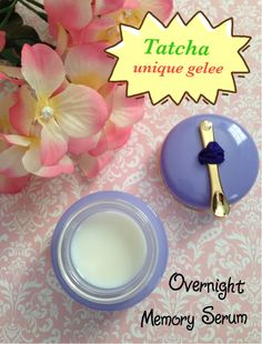 Tatcha LUMINOUS Overnight Memory Serum Concentrate is a unique smooth gelee that returns to its pristine state after scooping with the golden attached spoon. Skin glows after applying! neversaydiebeauty.com @redAllison