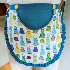 Peg/Pin Clothes Apron Retro Laundry Utility Apron with large