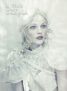 Photography & Makeup - FASHION SPREADS: Sasha Pivovarova and Guinevere van Seenus by Paolo Roversi in A White Story for Vogue Italia, April 2010