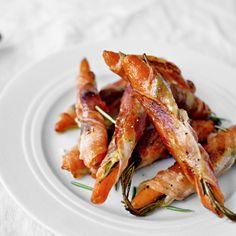 Baked carrots with Italian bacon and herbs / Bagte gulerødder med italiensk bacon og urter