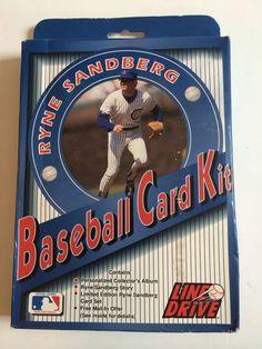 Line Drive Baseball Card Kit Ryne Sandberg  Sealed 1991 Album Vintage New Cubs