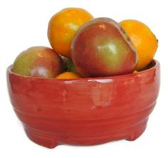 Bowl Deep Salmon Color Fruit BowlSalad by RisingStarPottery1, $30.00