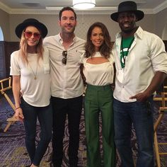 Lucifer - TV Series News, Show Information - FOX Team #Lucifer ready for the day. Bring it on Comic-Con! #SDCC #FOXSDCC @officialtomellis @lesleyannbrandt @laurengerman @db4real - See more at: http://www.fox.com/lucifer#sthash.JBIuZxog.dpuf