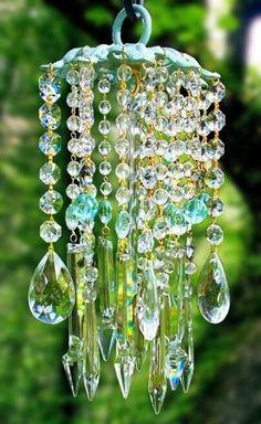 Crafts & Repurposing •~• crystal windchime