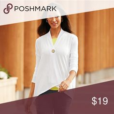 Cover up Casual white cover up jacket size large xl 14 to 18 Tops