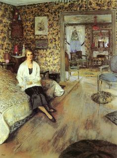 Edouard Vuillard..interior... browns