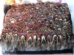 Uusi! 5 metriä pitkä fasaani höyhenvärinen vyö, n. 5 cm leveä, DIY korutarvikkeet