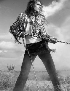 High fashion cowgirl ;)