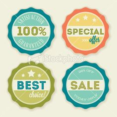 Sale Wax Seals Royalty Free Stock Vector Art Illustration