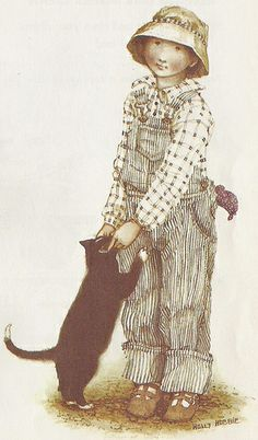 Holly Hobbie, boy with cat