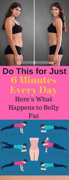 Do This for Just 6 Minutes Every Day,Here's What Happens to Belly Fat The belly fat is that the hardest kind of fats to lose, and is additionally one among st the foremost dangerous ones. If you ha…