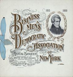 Menu printed in 1899