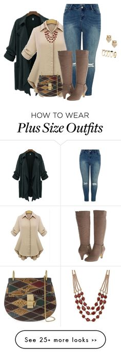 """plus size fall/winter chic look"" by kristie-payne on Polyvore featuring Bella-Vita, Chloé, Kate Spade, Lucky Brand and H&M"