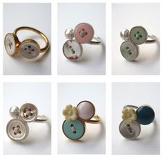 Pinterest Craft Ideas | Craft Ideas / Button rings - great idea for grandma's buttons! | We ...