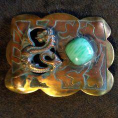 Лес ремесло Гильдия крылатый дракон пояс штифт искусств и ремесел травленый антикварная брошь   eBay