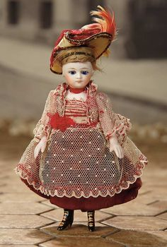 """""""Fascination"""" - Sunday, January 8, 2017: 128 French All-Bisque Mignonette in Original Costume with Fancy Shoes"""