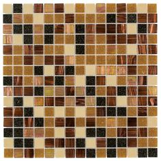 Vitreous Glass Mosaic Tile Multi Grain for kitchen backsplash, bathroom, shower, and pool.