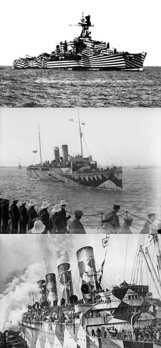 Dazzle ships -- You've never seen camouflage like this before!