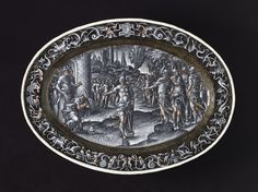 *Platter with Scene of Abram Returning the Goods of the King of Sodom. Pierre Reymond (France, Limoges, circa 1513-after 1584). France, Limoges, 1577.