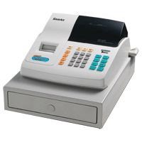 Single Station Cash Register. Serial Numeric Wheel Printer. 2 Department Compact Cash Drawer Receipt on/off function Improved Large Numeric front display Low cost unit ? Paper P5757 Plain Bo