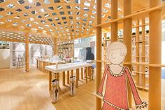 Wooden style by the great Japanese architect Shigeru Ban! Only at the Davines' stand - Cosmoprof Bologna.
