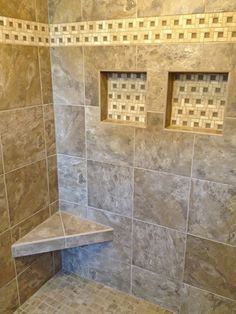 Luxurious tile shower!