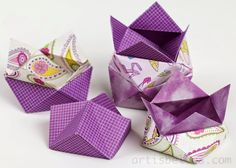 Origami Boxes: Stackable Square Boxes | Origami - Artis Bellus