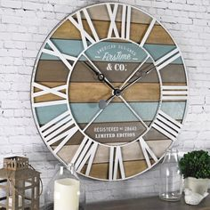 FirsTime & Co. 24 in. Maritime Distressed Teal Planks Wall Clock 00257 - The Home Depot : FirsTime & Co. Maritime Distressed Teal Planks Wall - The Home Depot Beach Cottage Style, Beach Cottage Decor, Coastal Style, Coastal Decor, Coastal Living, Coastal Furniture, Beach House Diy Decor, Rustic Beach Decor, Lake Decor
