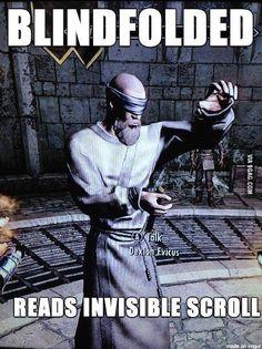 The Elder Scrolls V: Skyrim - Skyrim logic xD lol Elder Scrolls Games, Elder Scrolls Skyrim, Gamer Humor, Gaming Memes, Skyrim Funny, Skyrim Game, Skyrim Quotes, Video Game Memes, Video Games