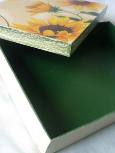 decoupage photo boxes for storage container & to make uniform
