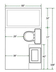 Bathroom Floor Plan Measurements Floor Plan And Measurements Of Small Bathroom Add A Shower Master Bath Floor Plans With Dimensions Bathroom 6 Option Dimension Small Bathroom Floor Plans Small Bathroom Floor Plans, Small Bathroom Layout, Bathroom Design Layout, Layout Design, Bathroom Ideas, Bathroom Organization, Design Ideas, Bathroom Interior, Tile Layout